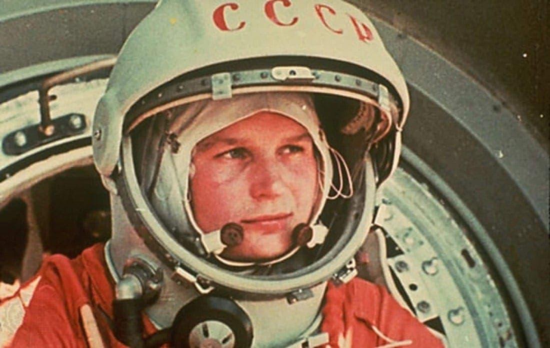 Valentina Tereshkova on the return of her first flight