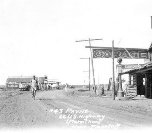 Una de las primeras imágenes de la Ruta 66