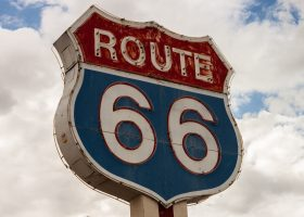 The iconic image of US Route 66