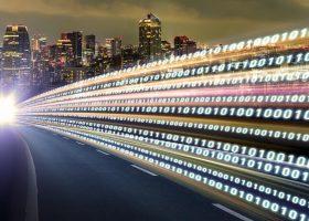 Imagen que representa las redes 5g en las vías de comunicación de la civilización