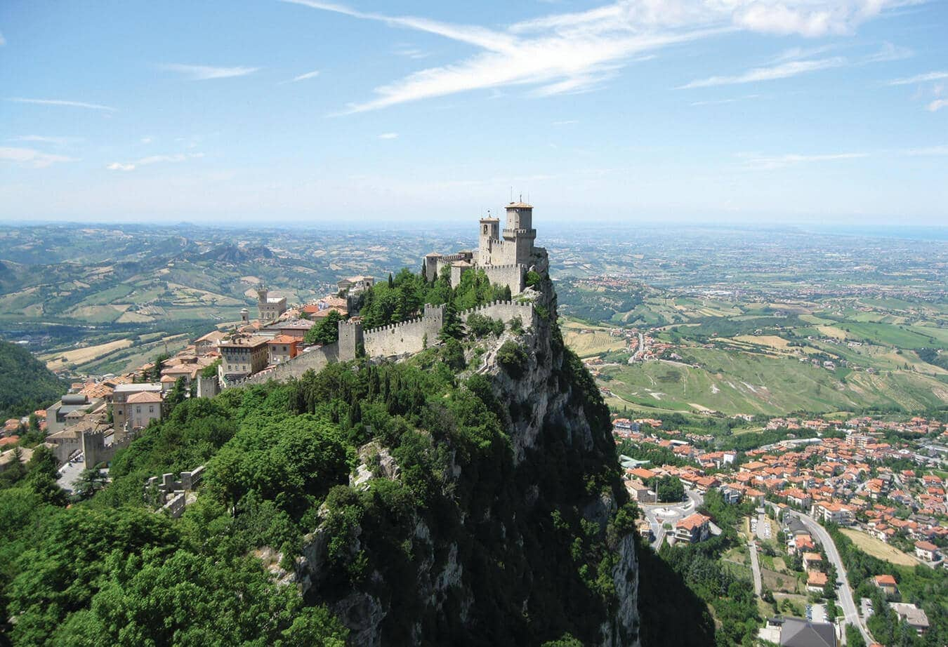 Imagen aérea San Marino