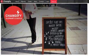 Captura de pantalla de la aplicación Changify