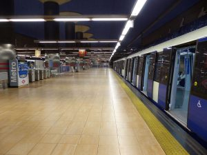 Podotactile pavement Madrid's underground