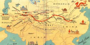 Silk road old map