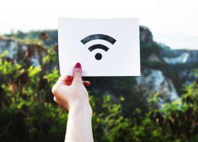 icono de Internet con un fondo de la naturaleza