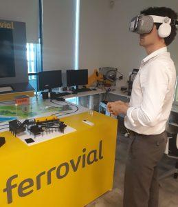 man using VR glasses in Ferrovial