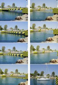 puente sumergible del canal de Corinto