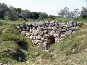 Remains of the Mycenaean bridge at Kazarma, in today's Greece