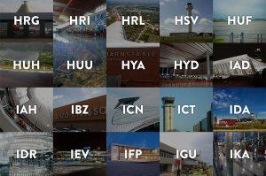 airports names code