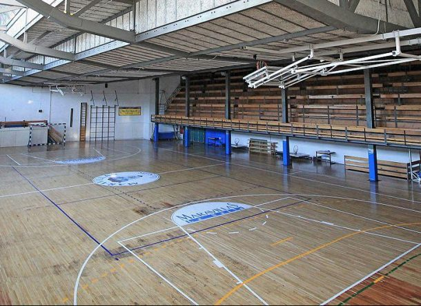 View from inside a Sports Centre