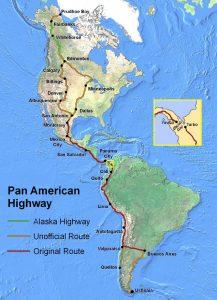 Map of the Pan-American Highway / Seaweege
