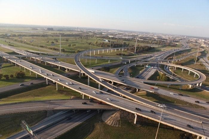 Future roads. Traffic Jam