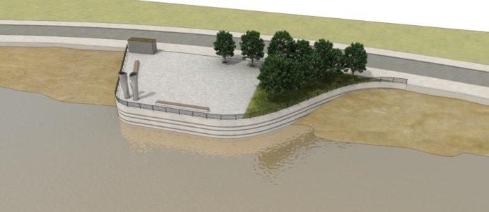 Infografía agua y carretera