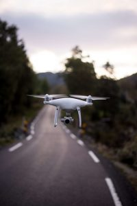 Drone over Road