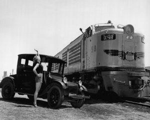 Foto publicitaria de la primera locomotora GTEL de la Union Pacific en 1953. / Union Pacific Railroad
