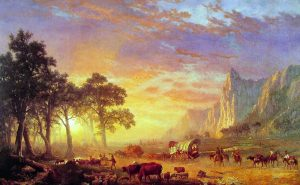Pintura de Albert Bierstadt, The Oregon Trail, 1869. / Boca Raton Museum