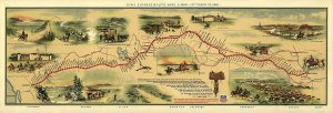 Mapa del overland trail a California de 1860 elaborado por William Henry Jackson. / US Library of Congress
