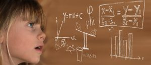 Young girl studying STEM