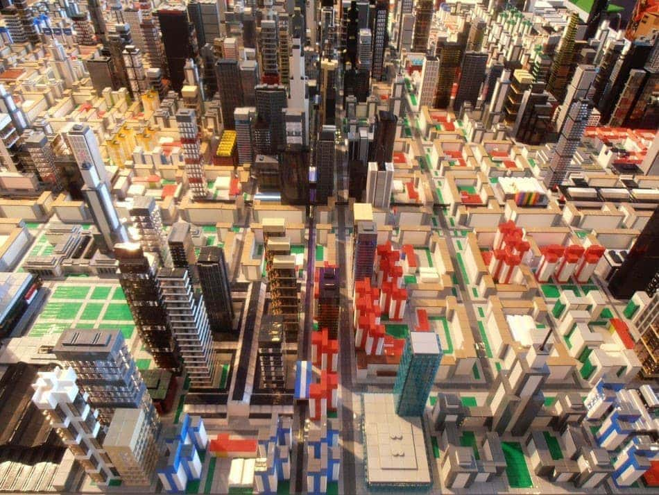 buildings and lego