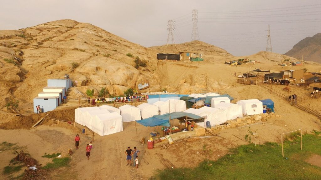 Image of one of the humanitarian aid settlements