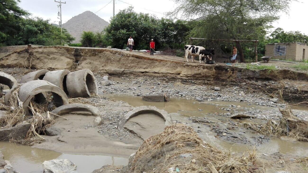 Imagen de la zona de Cura Mori, Perú, tras las inundaciones