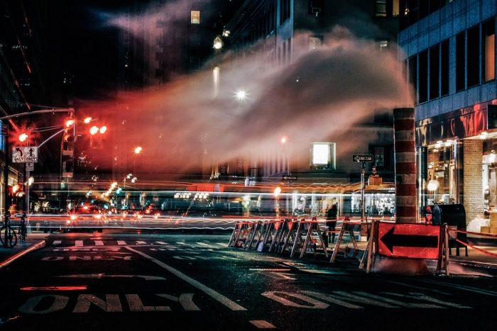 Night shot of Manhattan