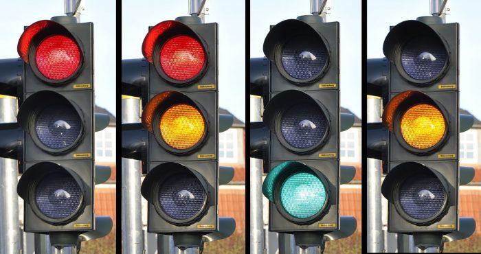 Foto de 4 semaforos
