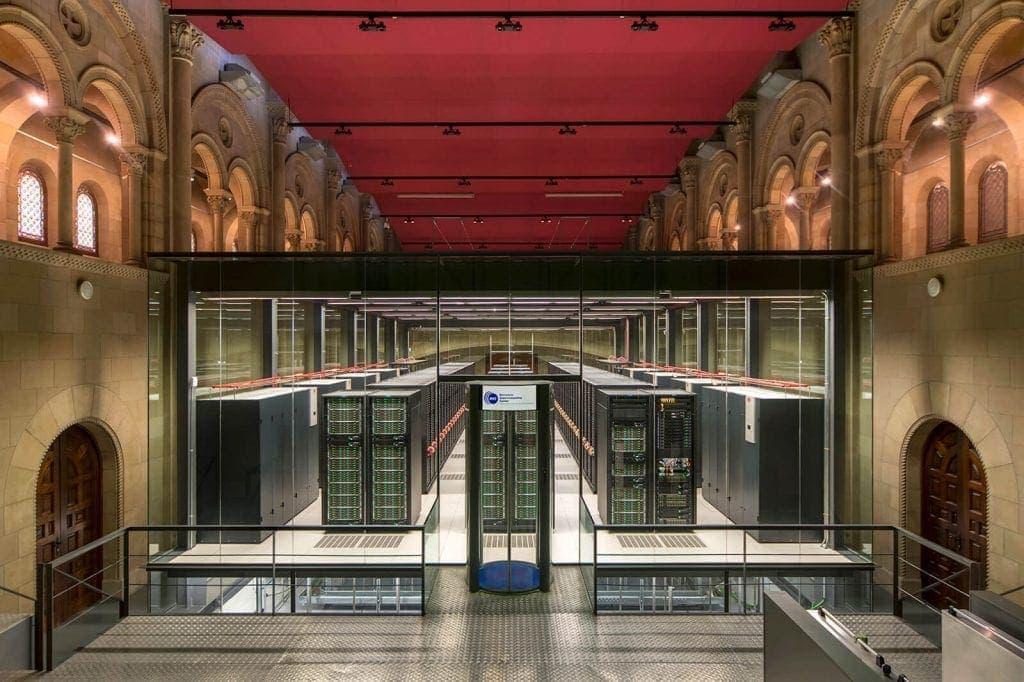 Marenostrum supercomputer, church converted into a supercomputer