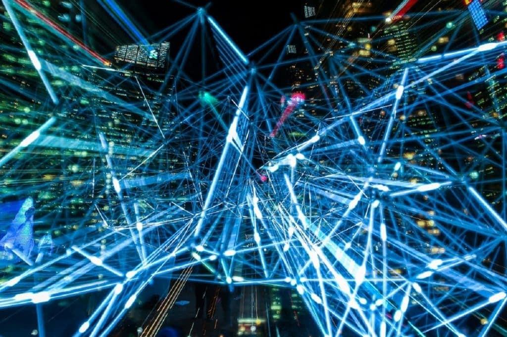 Una simulación virtual del intercambio de datos en una ciudad