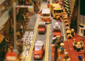 foto de una ciudad construida con Lego