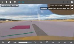 Pista aeropuerto vista a través de herramienta inteligente VIOMINER