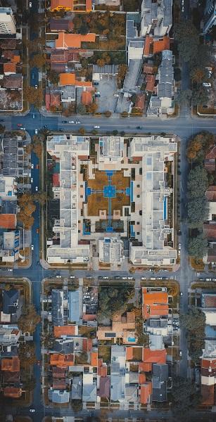 Vista aérea urbana