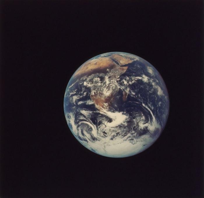 Imagen satélite del Planeta Tierra