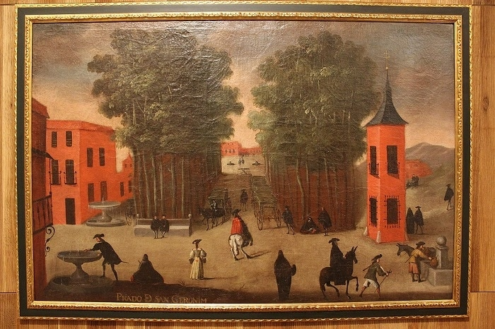 El Paseo del Prado, painting from the late seventeenth century