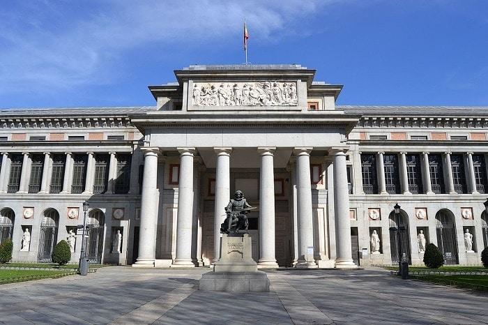The main facade of the Prado Museum