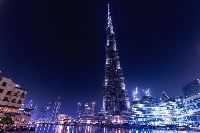 Vista de Burj Khalifa. Color