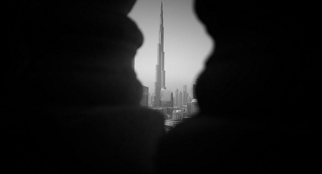 Burj Khalifa. Fotografía Blanco y Negro