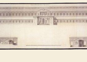 Plano a escala antiguo del Museo del Prado