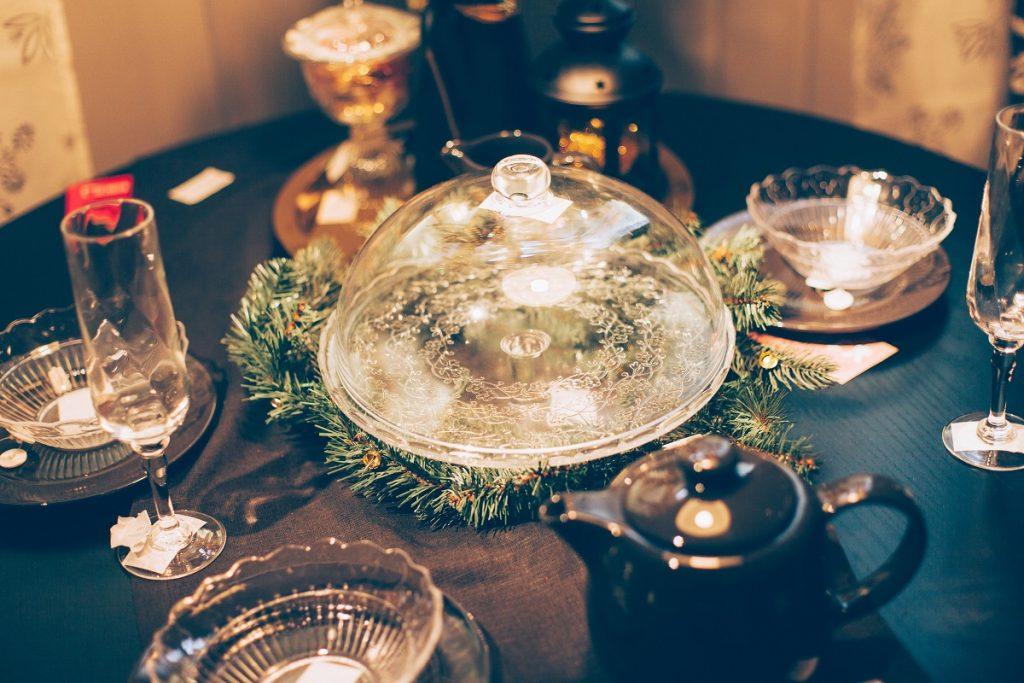 Mesa con decoración Navideña