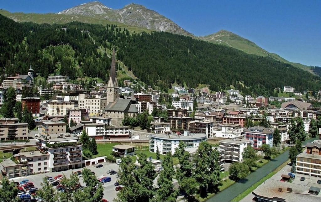 Ciudad de Davos en Suiza