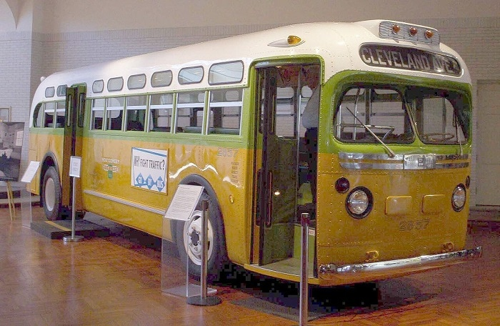Original bus where Rosa Parks had an incident with James Blake
