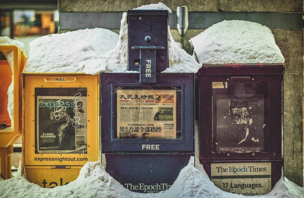 expendedor de periódicos