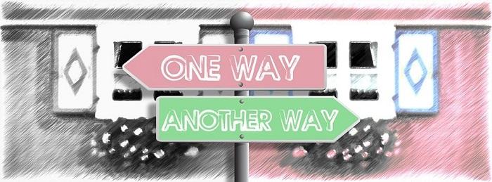 ilustración señales one way_another way