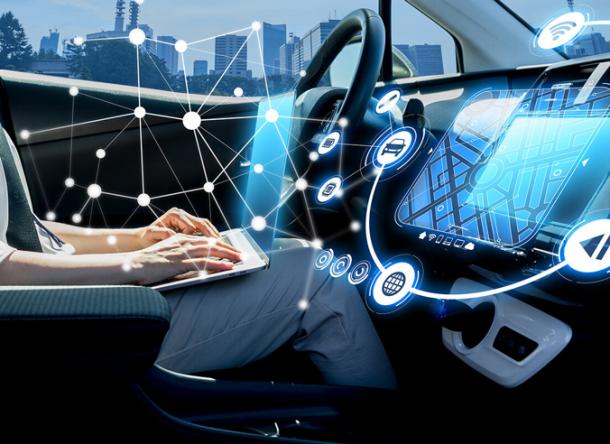 interior of an autonomous car