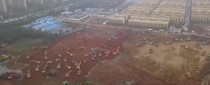 Construcción hospital en China