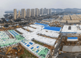 Construcción del hospital Huoshenshan