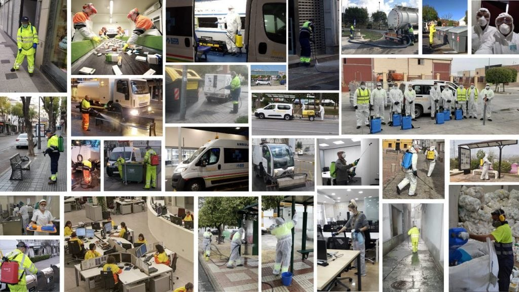 Actuacion de Ferrovial Servicios en la pandemia del coronavirus