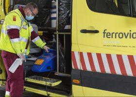 Ambulancia para atender pacientes de coronavirus