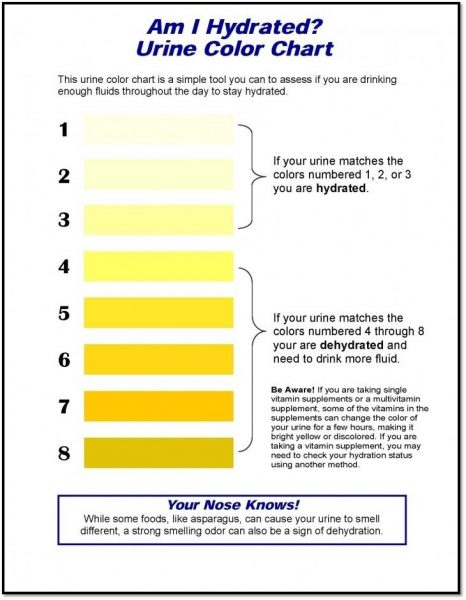 Dehydration health and safety poster