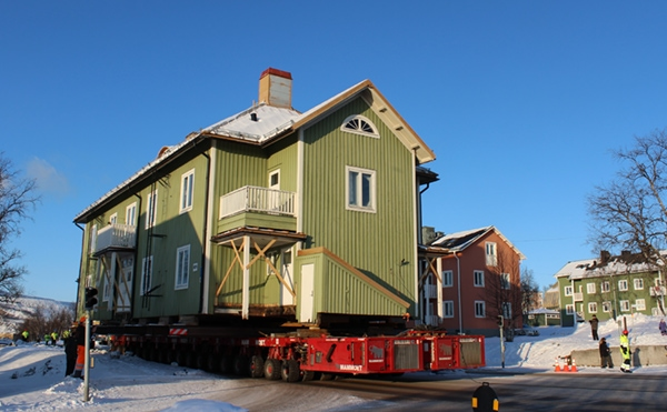 building is moved entirely